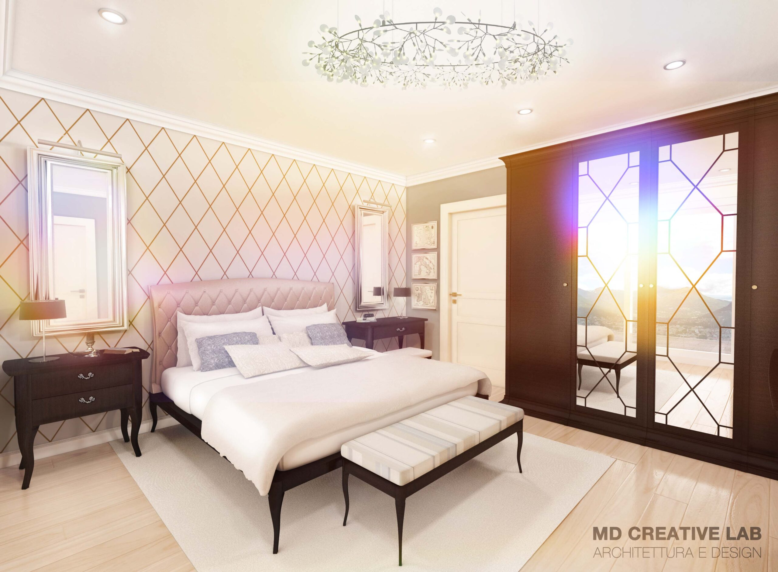 MD Creative Lab Lugano Bedroom Interior Design Lugano Paradiso Emerald Living Residence scaled