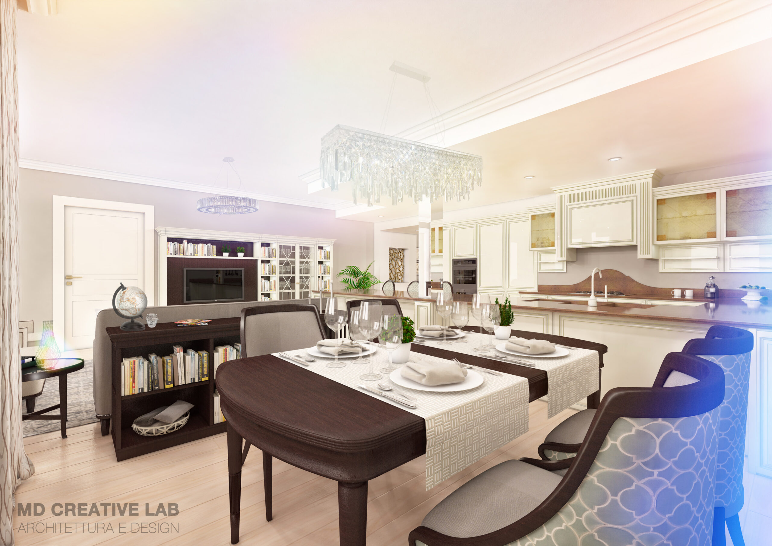 MD Creative Lab Lugano Dining Room design Lugano PAradiso Emerald Living scaled